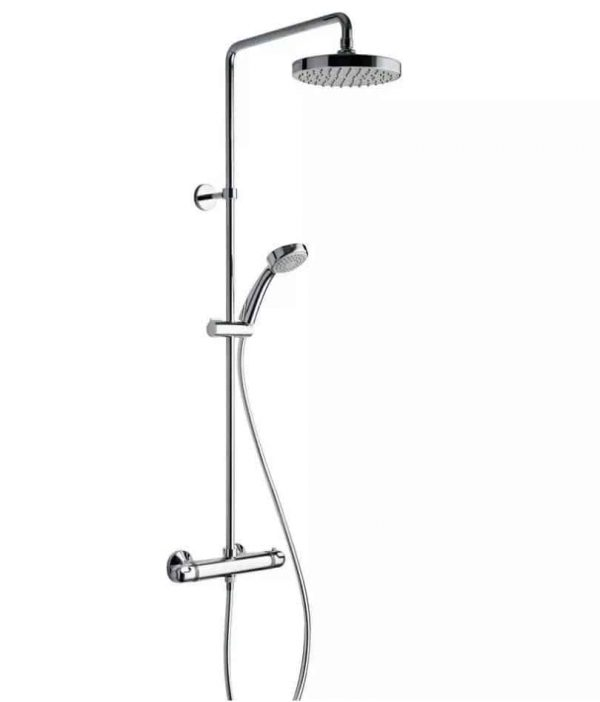 Plieger Luzon douchesysteem chroom met regendouche 20cm