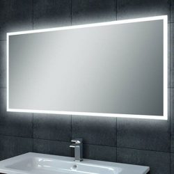 Aluminium spiegel met led verlichting infinity