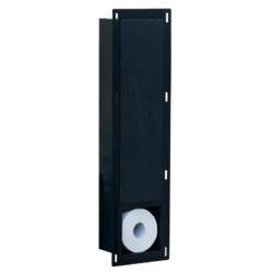 inbouw toiletrolhouder mat zwart productfoto