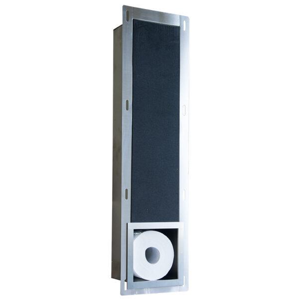 inbouw toiletrolhouder rvs productfoto