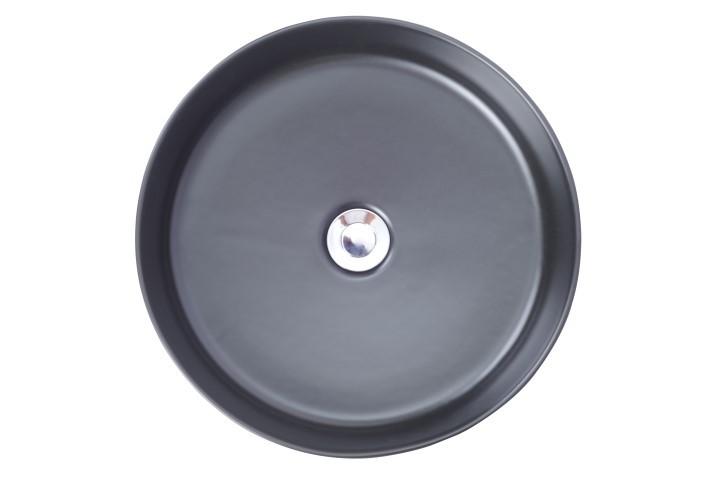 Saniflex opzetwastafel rond zwart megadump