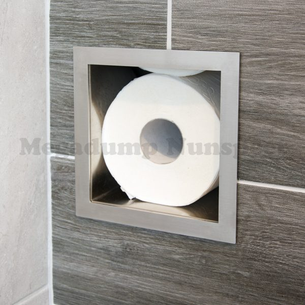 rvs inbouw toiletrolhouder 6 rollen
