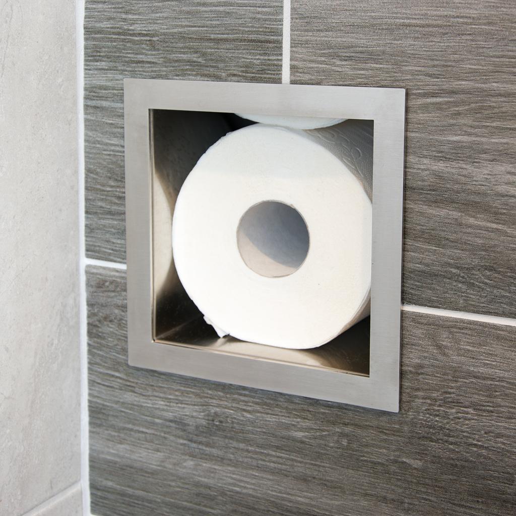 Wc Rollen Houder Muur.Rvs Inbouw Toiletrolhouder Voor 6 Closetrollen Megadump