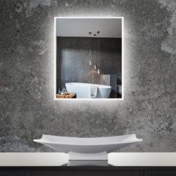 Aluminium spiegel met LED verlichting