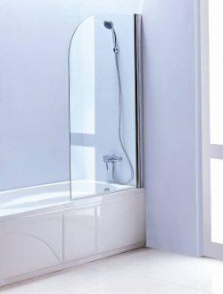 Glazen badwand 80cm