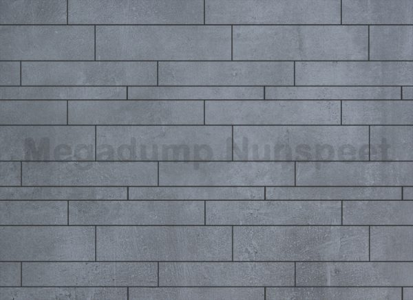 Strokenmix Concrete grijs gerectificeerd