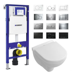 Geberit UP320 Sigma complete set villeroy en boch compact direct flush