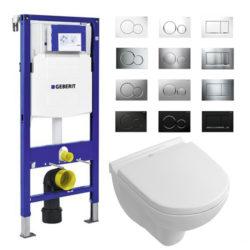 Geberit UP320 Sigma complete set villeroy en boch compact direct flush