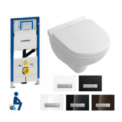 Geberit Duofresh stank hoeft niet te stinken complete set met v&b compact direct flush