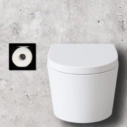 inbouw toiletrolhouder mat zwart
