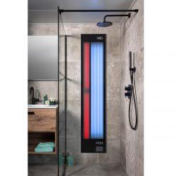 Xenz Feel Good shower inbouw zwart aluminium UV & IR FS6020.ZW