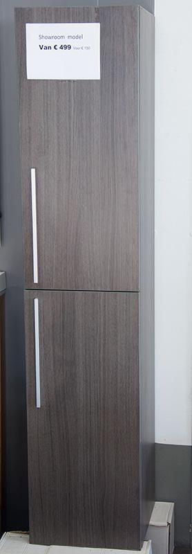 Showmodel - Kolomkast grijs eiken 35x35x160 cm