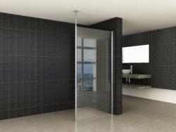 Set verticale stabilisatiestang + plafondbevestiging chroom