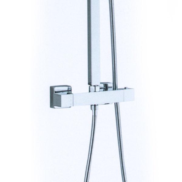 Vierkante regendouche met thermostaatkraan