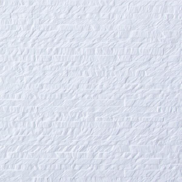 Keramische steenstrips decor tegels 120 x 40 cm wit