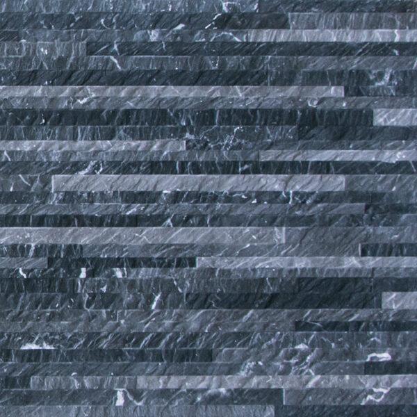 Keramische steenstrips decor tegels 120 x 40 cm zwart