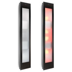 80062 sunshower combi black uv en infrarood opbouw 144x29 cm zwart