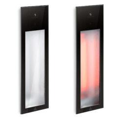 80063 sunshower pure infrafood inbouw 62x20 cm zwart
