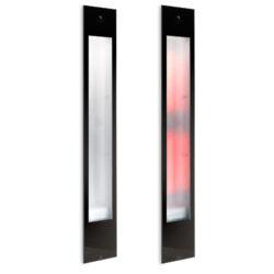 80064 sunshower pure black xl infrarood inbouw 124x20 cm zwart