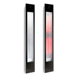 80066 sunshower solo black infrarood opbouw 125x20 cm zwart