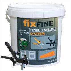 Fixfine tegel levelling systeem starter set 100 stuks 1,5mm