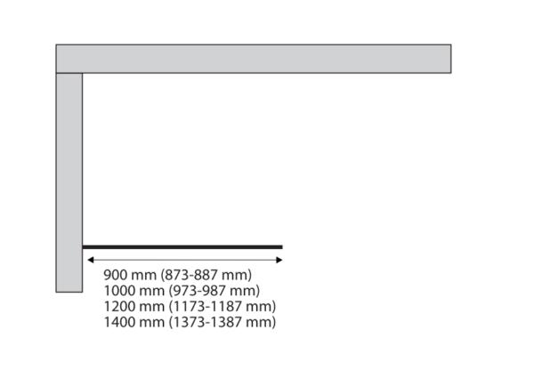 Sealskin Soho zwarte inloopdouche industrieel type A3 90 100 120 140 cm