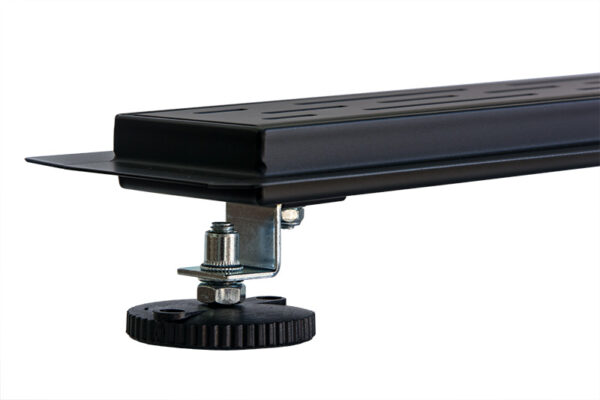 Douchegoot mat zwart RVS met uitneembaar sifon