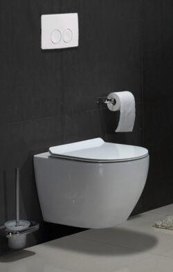 Geberit inbouwreservoir met Rimless wandcloset (toilet zonder spoelrand)