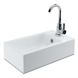 Mineraal marmer fonteintje wastafeltje voor toilet 40x22x10 cm