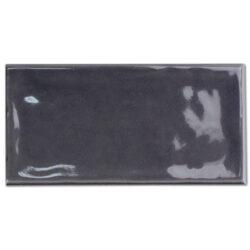 Handvorm tegels 7,5 x 15 cm donkergrijs