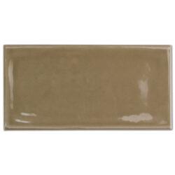 Handvorm tegels 7,5 x 15 cm mokka