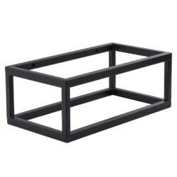 Mat zwart frame voor fontein toilet 40x22x15 handdoekrek