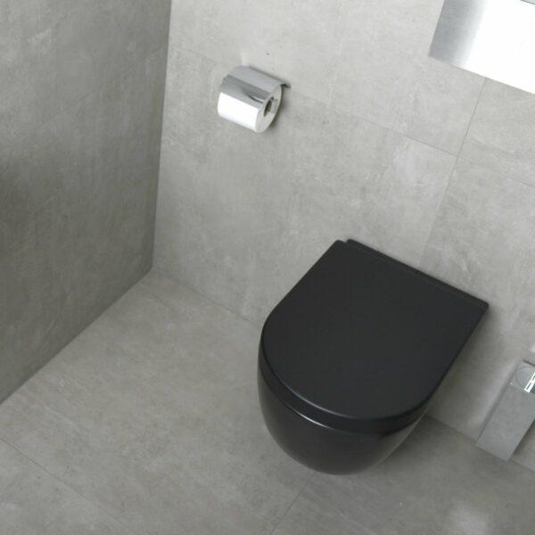 Plieger randloos wandcloset mat zwart inclusief softclose zitting