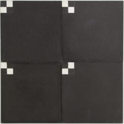 Portugese cement tegels 20x20 zwart met blokjes type 02
