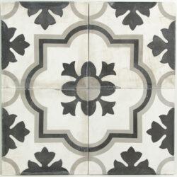 Portugese cement tegels 20x20 zwart grijs type 09