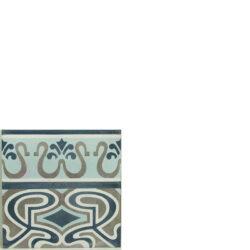 Portugese cement tegels 20x20 afwerkrand type 16