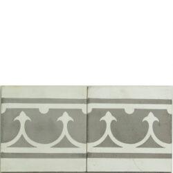 Portugese cement tegels 20x20 afwerkrand grijs type 22
