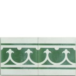 Portugese cement tegels 20x20 afwerkrand groen type 26