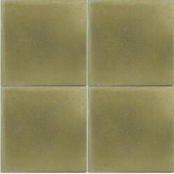 Portugese cement tegels 20x20 uni kleur olijf groen type 29