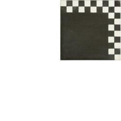 Portugese cement tegels 20x20 hoek afwerking zwart met blokjes type 31
