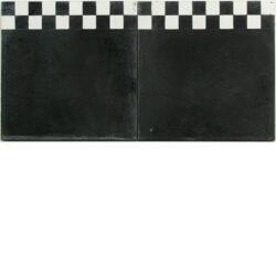 Portugese cement tegels 20x20 rand afwerking zwart met blokjes type 32