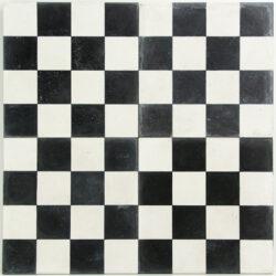 Echte cement tegels met Portugees motief 20x20 cm zwart wit geblokt