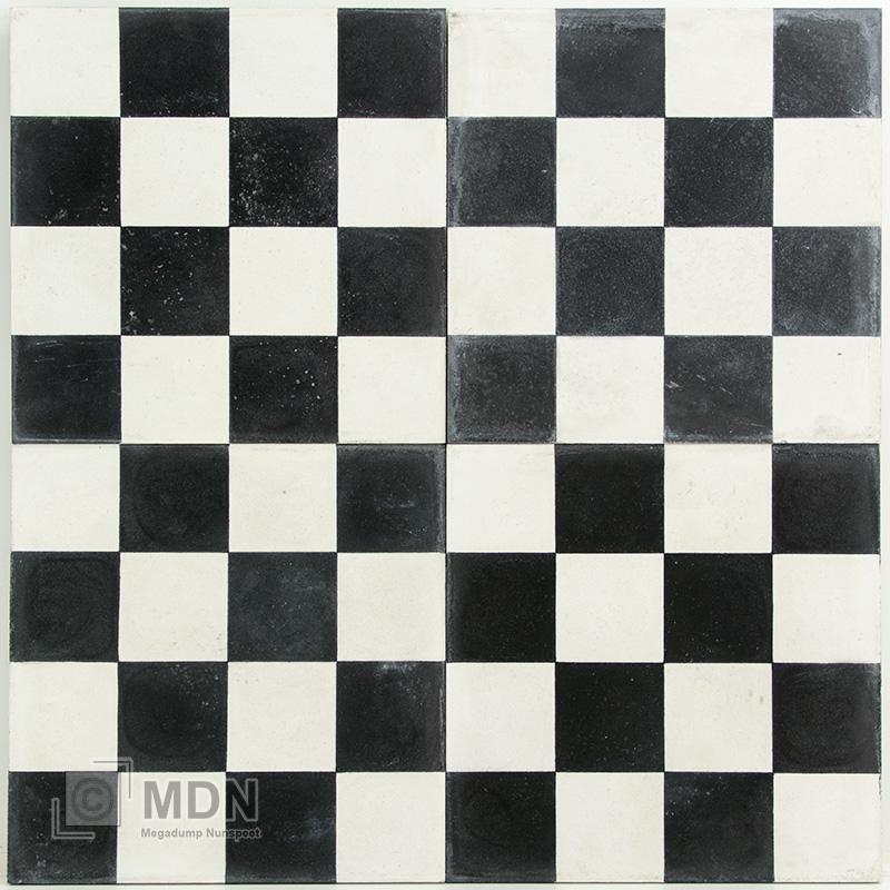 Zwart Wit Vloertegels.Echte Cement Tegels Met Portugees Motief 20x20 Cm Zwart Wit Geblokt