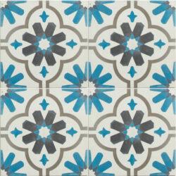 Portugese cement tegels 20x20 blauw wit type 59