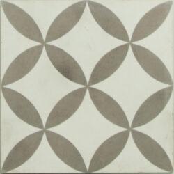 Portugese cement tegels 20x20 bloem motief type 43