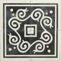 Portugese cement tegels 20x20 hoeken zwart wit type 55