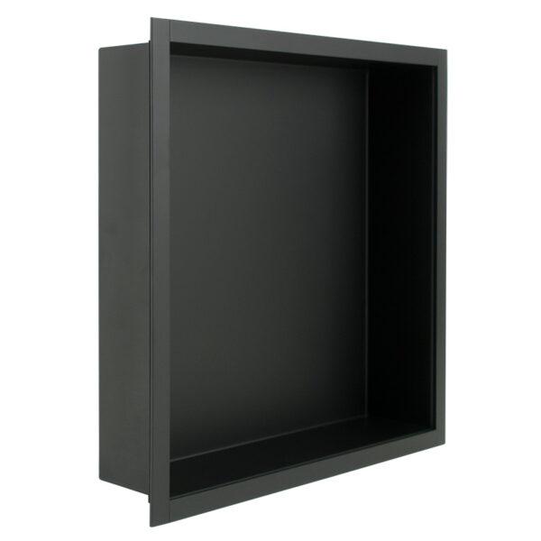 RVS inbouw nis mat zwart 30 x 30 x 7 cm