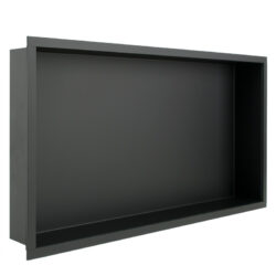 RVS inbouw nis mat zwart 30 x 60 x 7 cm