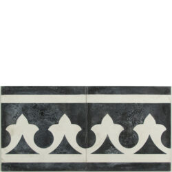 Portugese cement tegels 20x20 rand zwart type 83
