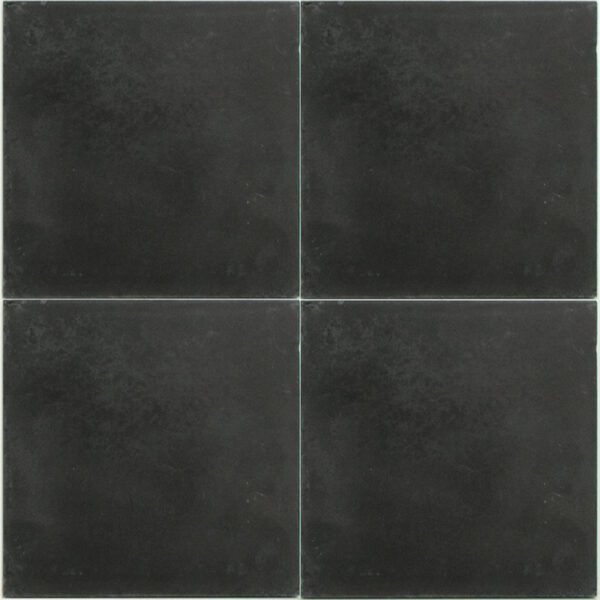 Portugese cement tegels 20x20 uni zwart type 96